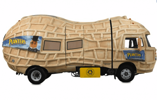 biofuel, mr peanut, nutmobile, planters, green nutmobile, green mr. peanut, mr. peanut vehicle, solar panels, alternative fuel cars, alt fuel cars, alt fuel vehicles