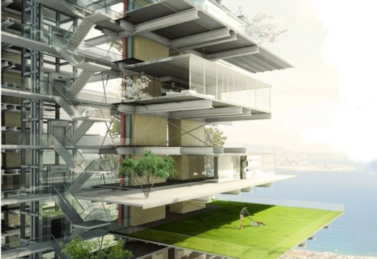 eco competition, new Italian blood, phytoremediation, green building competition,solar park south, Reggio Calabria Highway, repurposed bridge, eco village, geothermal power, methane water heating, green building