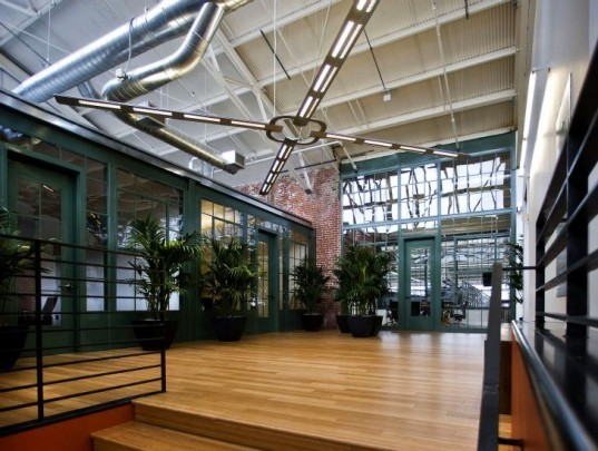 sunpower headquarters, marcy wong donn logan architects, adaptive reuse, solar power, green renovation,