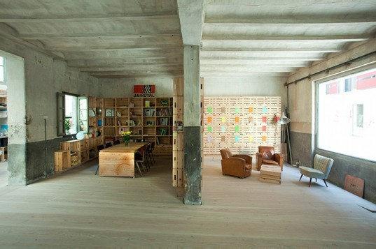 the hub, madrid, shared office, co-op office, green renovation, ch + qs architects