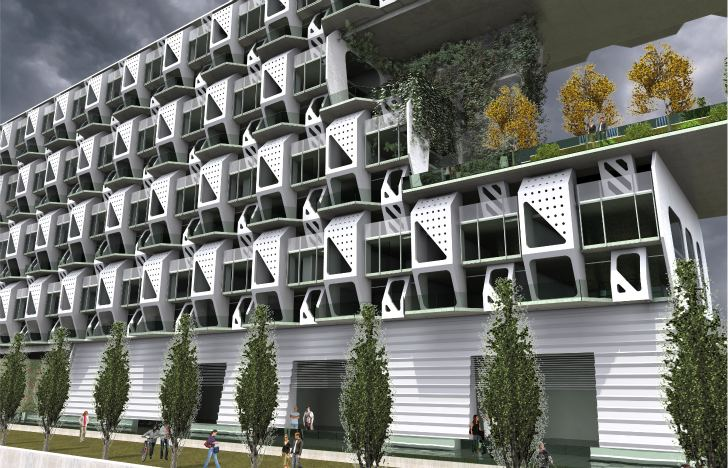 Weave Housing Futuristic Prefabricated Apartment Concept For Denver Co