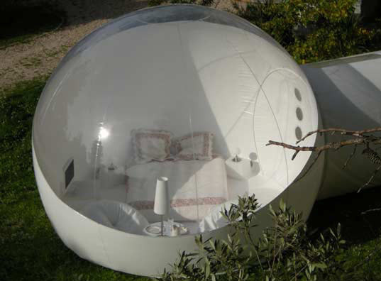 bubbletree globes are prefab bubble shaped tents for luxury camping inhabitat green design. Black Bedroom Furniture Sets. Home Design Ideas