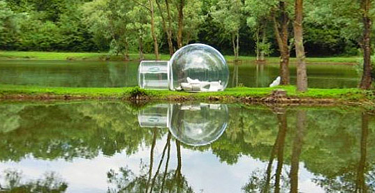 Architecture & Bubbletree Globes Are Prefab Bubble Shaped Tents for Luxury ...
