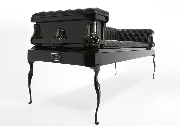 Coffin Couches Are Fun Funerary Sofas Made from Recycled Caskets