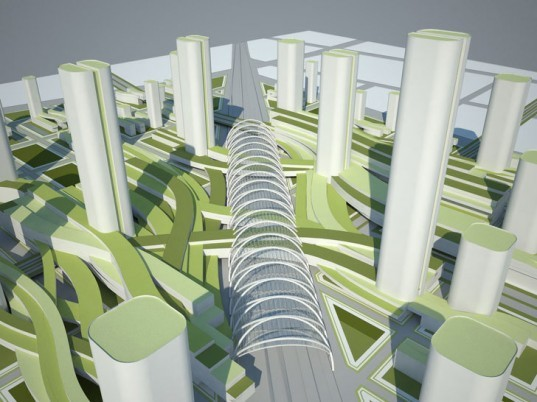 Langfang, Eco-City, Urban Design, Sustainable Urban Design, HOK, AIA, American Institute of Architects, CWG, Woods Bagot, Green Urban Design, Sustainable City, Green City, AIA Hong Kong, Inhabitat