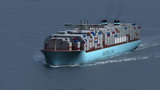 maersk, maersk shipping line, greenest container ship, triple-e ship, green shipping, maersk green ship