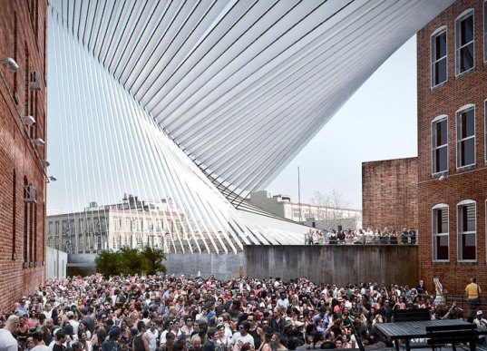 MoMA, MoMA PS1, MAXXI, Young Architects Program, Long Island City, Warm Up, Interboro partners, Museum, Recycled Materials, green design