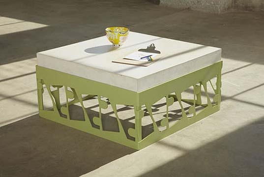 recycled metal Tables, NASCAR Scrap Metal Waste, Bevara Design House, NASCAR waste, recycled materials, green tables, green furniture, green interiors,