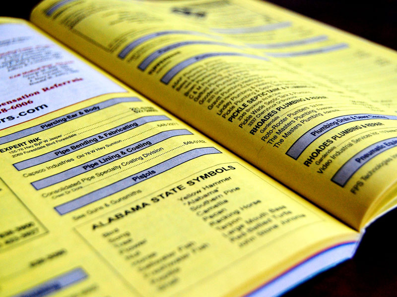 Yellowpages Phone Book