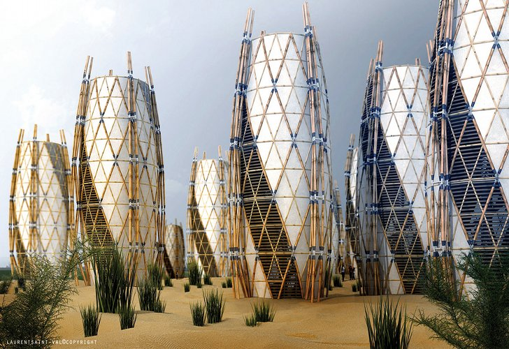 Vertical Bamboo Housing By Saint Val Architect | Inhabitat   Green Design,  Innovation, Architecture, Green Building