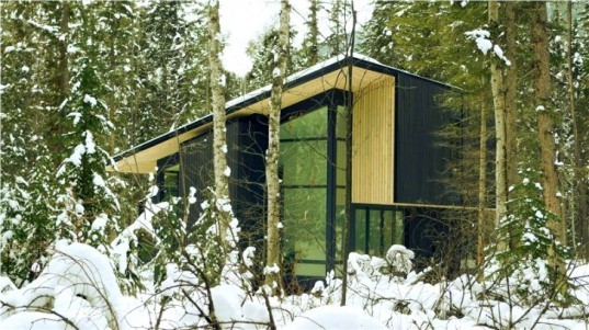 form and forest, pioneer cabin, flat pack prefab, prefab cabin, british columbia