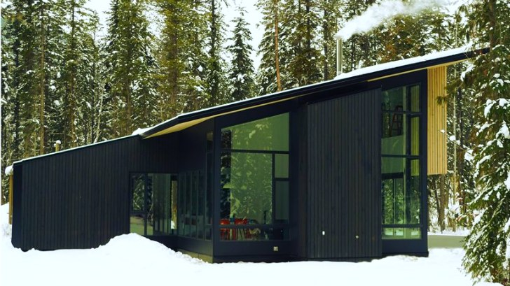 Form and forest completes first flat pack prefab cabin in for Prefab foundation walls