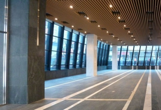 adaptive floor plate, natural light, building glass facade,Korean pottery, natural cooling, wavy tower, Seoul Green tower, solar power, daylighting,