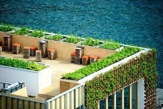 greenhouse, joost bakker, sydney, shipping containers, eco restaurant, pop up cafe, zero waste