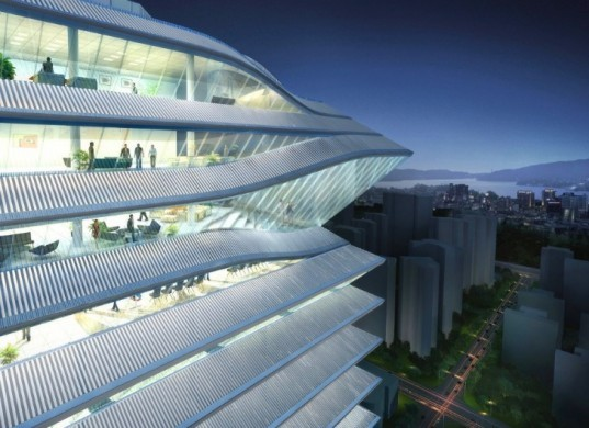 Guosen Tower, MVRDV, shenzhen, chinese lantern, louvers, daylighting, energy efficient design, green architecture
