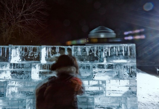 icewall, yushiro okamoto, MIT, seeds, ice blocks, ice wall, art installation, eco art