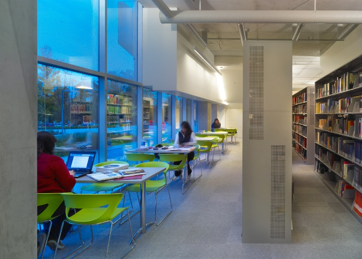 Classroom Hvac Design ~ Leed gold langara library uses wind towers instead of