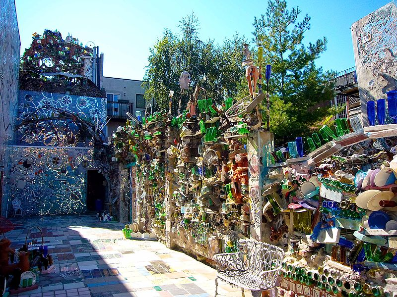 garden design made of recycled materials. Philadelphiau0027s Magic Garden Is A Mosaic Of Recycled Materials Design Made
