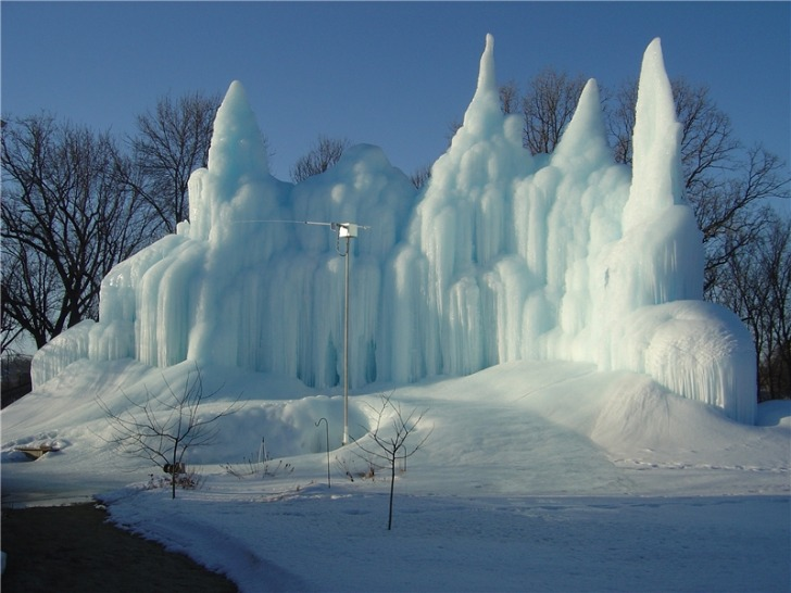 Ice Castles In Minnesota Rely On Cold Water From