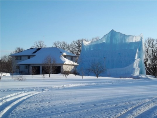 roger hanson, ice castle, geothermal heat system, minnesota, ice, eco art, scuplture