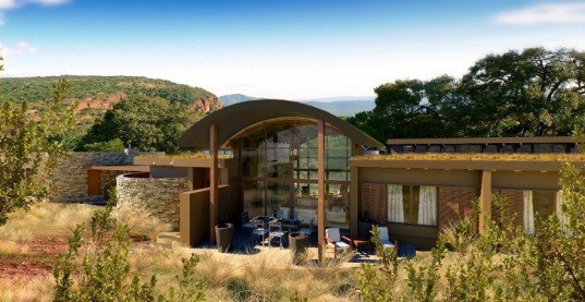 recycling, constructed wetland, passive design, rammed earth, carbon neutral, solar energy, building integrated photovoltaic, LED lights, South Africa, Biosphere, Conservation, North Facing Windows