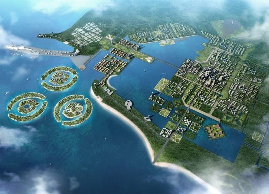 SBA Design, Future City, Hainan, China, wind power, solar power, photovoltaic, bio-gas, Personal Rapid Transport, pedestrian friendly, sustainable development, eco-tourism, sustainable architecture, urban planning