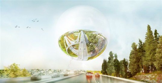 BIG architects, big stockholmsporten, stockholmsporten design, big valley design, hjulsta intersection, green design