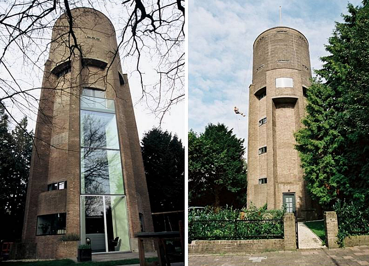 Zecc Architects Convert 1930s Water Tower Into Sleek Nine