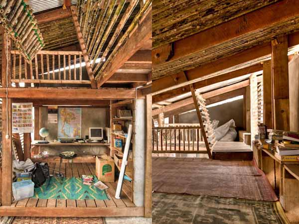 Bamboo Hut With Loft