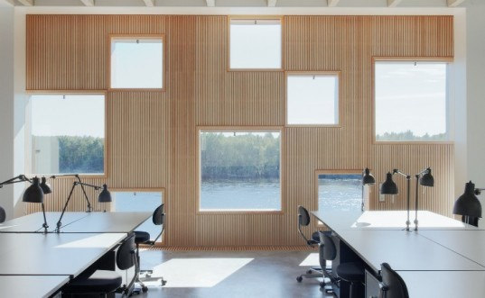 Umeå University, architecture academy, henning larsen architects, daylighting, wooden facade, sweden