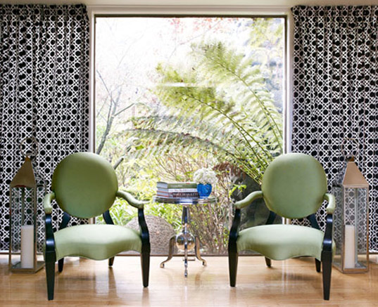 Zem's living room, eco-friendly curtains, green curtains, green window treatments, eco design, eco home, green home, green living, C2C design, cradle-to-cradle design, eco-friendly flooring, eco floors, green flooring, green floors