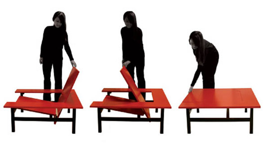 Benoit Lienart, L'Observeur du Design 2011, transforming furniture, Sweetch18