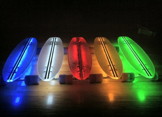clear29, skateboard, skateboarding, green transportation, green design, alternative transportation, led skateboard, green lighting, leds
