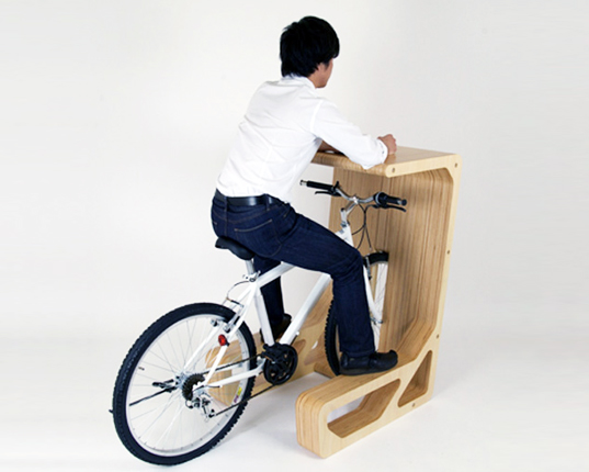 Bike, Desk, Cycle, Stop, Storage, Solutions, Japanese Studio, Store Muu, Green Design