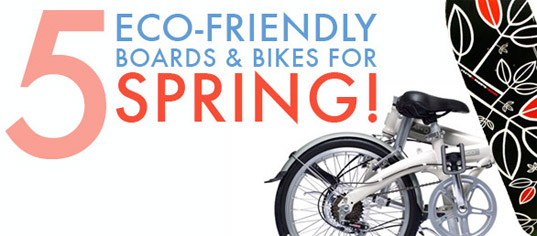eco friendly bikes, bikes, bike, bicycle, skateboard, eco friendly skateboard, surfboard,  5 Eco-Friendly Boards & Bikes For Spring, green transportation, alternative transportation