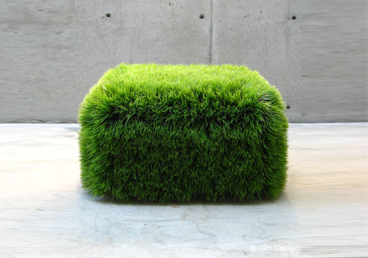 Exceptionnel Grass Ottoman Is A Living Growing Chia Chair. Design