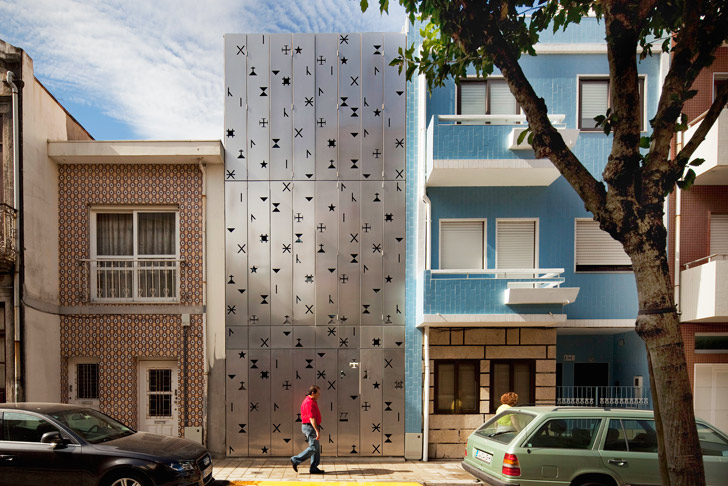 House 77 Is An Urban Loft With A Funky Perforated Aluminum