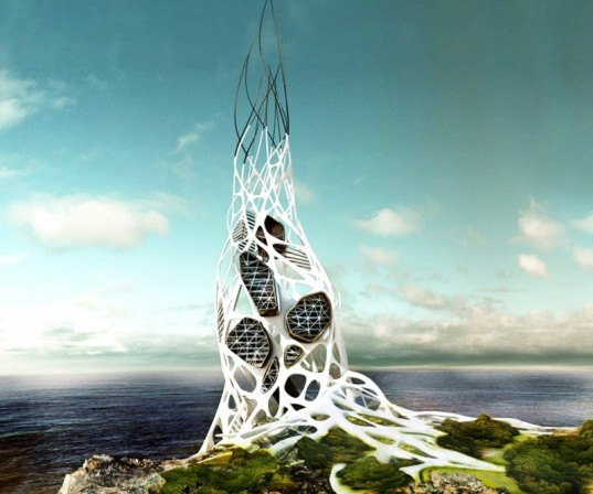 hydra tower, 2011 evolo skyscraper competition, evolo, sustainable design, green design, green building, sustainable architecture, hydrogen power, renewable energy, alternative energy, lightning power