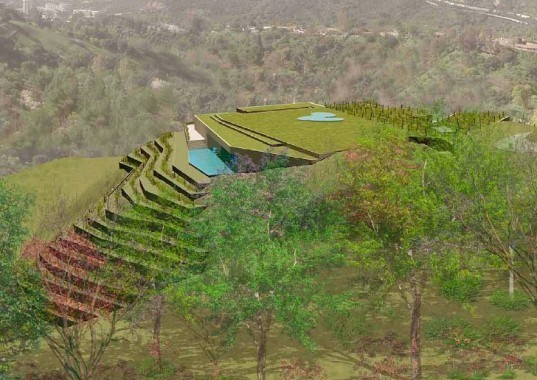 shubin + donaldson architects, underground home, green roof, green architecture, LA, green home