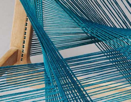 sustainable products, Stockholm Furniture Fair, designer Asa Karner, Alvi design, alvisilkchair, FSC wood, forest Stewardship Council, environmentally friendly silk,Experimenta, loom furniture, green silk, ethical silk