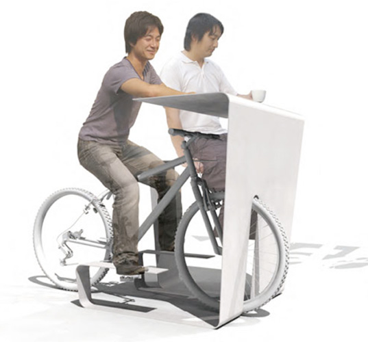 Muu S Cycle In Desk Transforms Your Bike Into A Chair Inhabitat Green Design Innovation Architecture Building