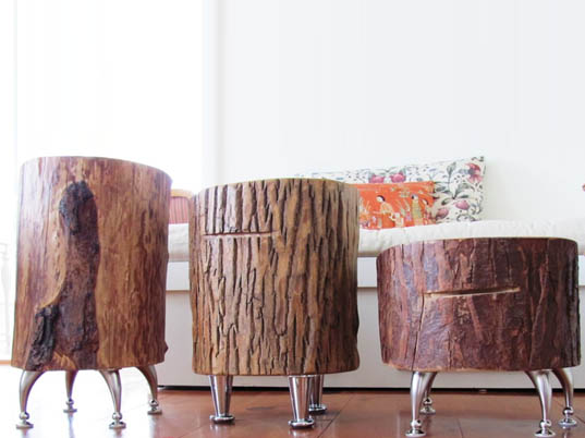 furniture sustainable forests, Nicole Belanger, Nickadoo Tree Trunk Tables, nickadoo, tree trunk furniture, fallen tree trunk furniture, green furniture, fallen, tree trunk tables, sustainable furniture