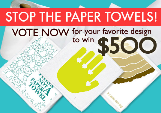 cloth towels, design contest, eco accessory, eco design, eco design competition, eco towels, green accessories, green contest, green design, green design competition, green graphics, green towels, inhabitat contest, paper towel waste, paper towels, peopl