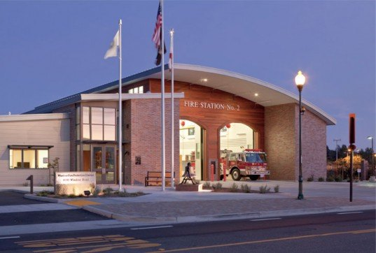 Windsor City Fire Station, Fire Station LEED, Fire Station, Inhabitat, Beverly Prior Architects, Sustainable Fire Station, Green Fire Station, Sustainable Architecture, Green Architecture, Sustainable Building, Green Building, Sustainable Design, Green Design