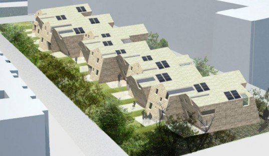 12 Passive Houses, Paris, MUT Architecture, passive house, passivhaus, green design, sustainable architecture