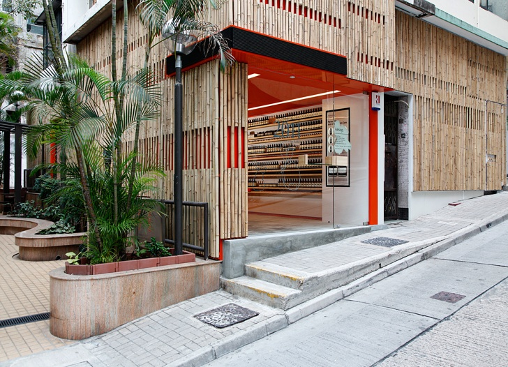 decked out in bamboo aesop s new store fits in with sheung wan