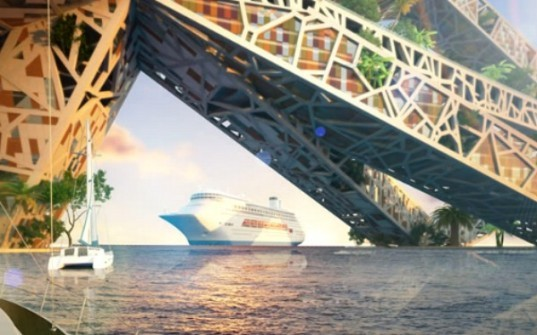 Acapulco Bay Bridge, habitable bridge, bnkr arquitectura, acapulco, bridge