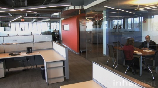 Autodesk AEC Office, Boston green office, New England green office,Integrated Project Delivery, IPDBuilding Information Management , BIM, buzzsaw, ecotect, Autodesk software, green design, LEED CI Platinum, LEED C&S Gold, Revit,