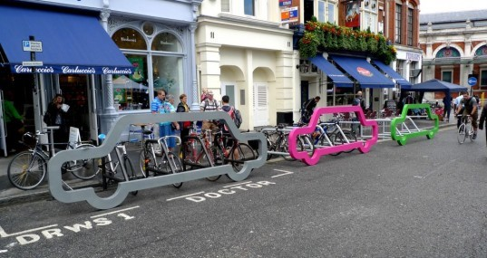 green design, eco design, sustainable design, London Festival of Architecture, Cyclehoop, bicycle rack, bike racks, David Byrne