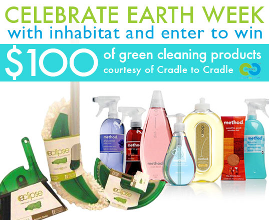 Earth Day, Earth Week, MBDC, Cradle to Cradle certified, Cradle to Cradle philosophy, Cradle to Cradle, William McDonough, giveaways, free stuff, win this, green giveaways, earth day giveaways, earth week giveaways, earth day prizes, earth week prizes, earth month, casbella eclipse cleaning system, method cleaning products, method